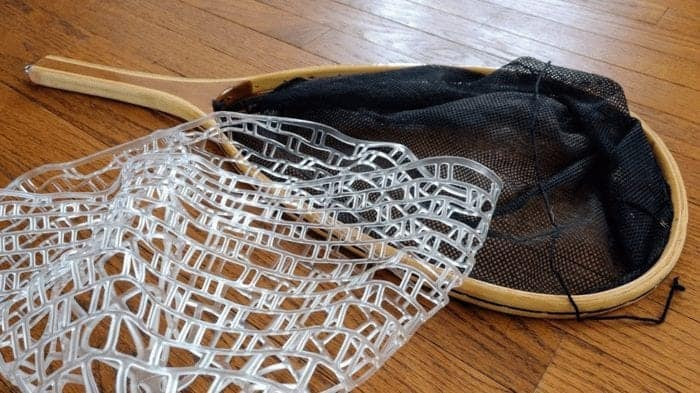 use a rubber net, safety first, how to handle a fish, fly fishing net, fishing net