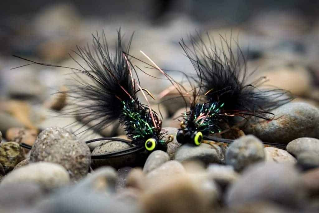 fly fishing jigs, jigged streamers, fly fishing with streamers, jigged streamers for winter fly fishing,